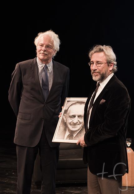 Can Dündar and laudator Thomas Roth